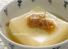 卵豆腐に★なめたけ+粉山椒