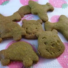 きな粉と小松菜のクッキー