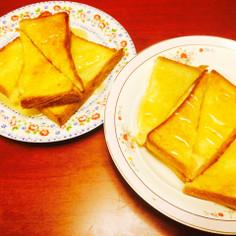 *簡単ハニートースト♡夜食にどうぞ*