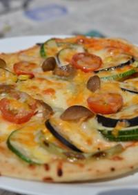 ひなたファームのピザ釜野菜ピッツァ