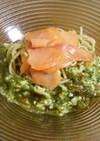 脂肪分解酵素♪胡瓜もずく酢でサッパリ蕎麦