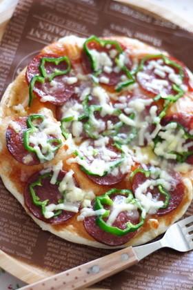 子どもと作る簡単クリスピーピザ...