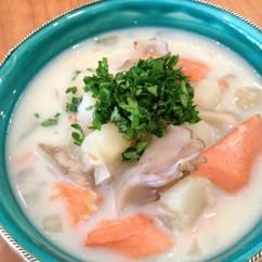紅鮭ときのこのクリームスープ