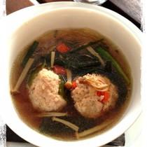 れんこん鶏団子の春雨スープ