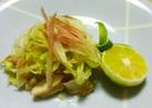 鯵のほぐし身と白菜の和え物♪