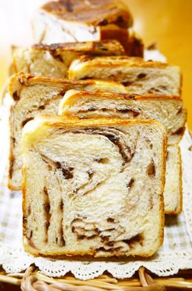 あこがれのマーブル模様♪【あん食パン】