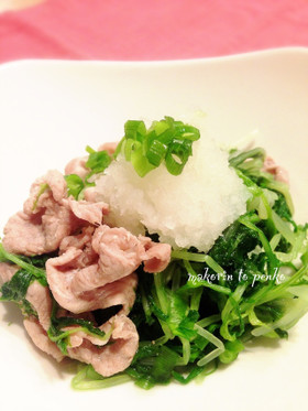 水菜大量消費に!水菜と豚肉の蒸し煮