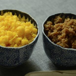 鶏そぼろと炒り卵