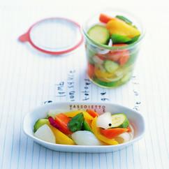 夏野菜の甘酢づけ