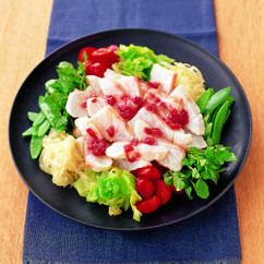 白身魚のしゃぶしゃぶサラダ