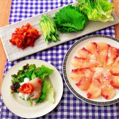 白身魚の韓国風手巻きずし