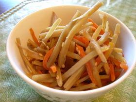 冷凍野菜で楽しちゃう☆きんぴら。
