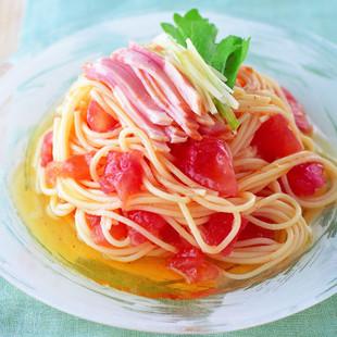 ひんやりトマトパスタ