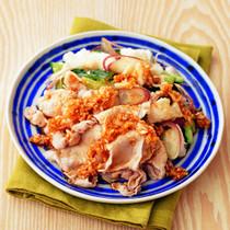 豚肉とたたき野菜のさっぱり冷しゃぶ