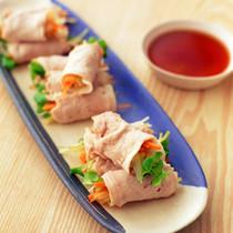 彩り野菜の豚しゃぶロール