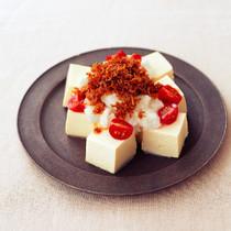 たたき長いもとカリカリじゃこ豆腐