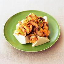卵としいたけの中華炒め豆腐