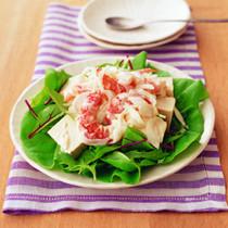 えびマヨ豆腐サラダ