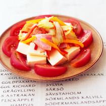 夏野菜とハムのマリネの豆腐サラダ