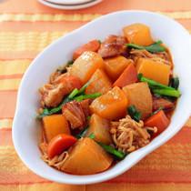 大根と鶏肉の韓国風炒め煮