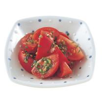 トマトのねぎドレッシング