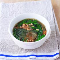 春雨とにらのスープ