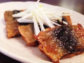 秋刀魚の甘辛揚げ☆大葉にんにくしょう油