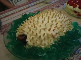 はりねずみケーキ