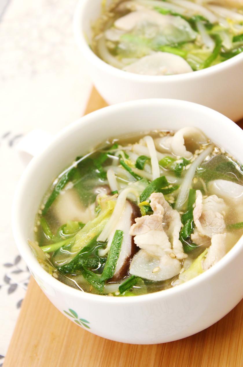 ダイエットや夜食に中華風食べるスープ