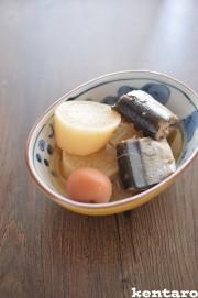 秋刀魚と大根の梅生姜煮の写真