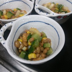 ◉納豆サラダ