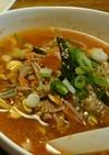 ピリ辛!豚チゲ風スープ