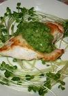 鶏のグリル・きゅうりソース