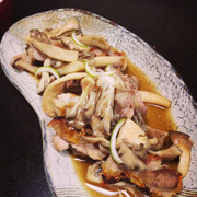 鶏肉ときのこのグリル~かぼす醤油あえ~の写真