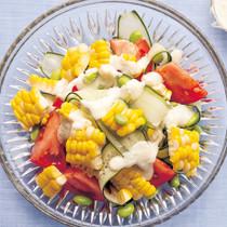 とうもろこしとトマトのサラダ