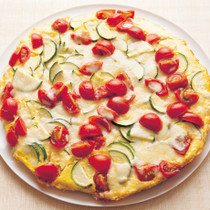 豆腐と夏野菜のピザ風