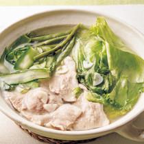 レタスと豚肉のあっさり鍋