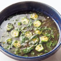 モロヘイヤとオクラのとろみスープ
