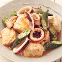 いかと豆腐のにんにく風味うま煮