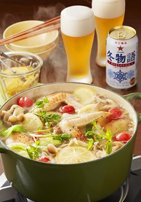 白菜と手羽先の塩レモン鍋
