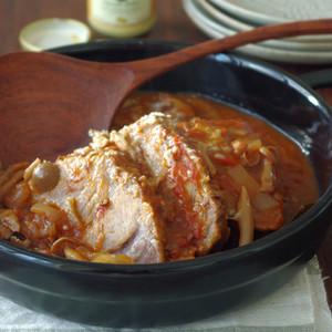 豚肩ロースのトマト煮込み