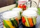 ゴーヤ、パプリカなどの簡単野菜のピクルス