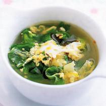 レタスの卵スープ