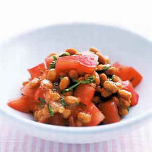 トマトの納豆あえ