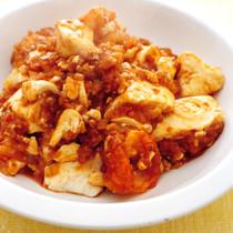 豆腐とえびのチリソース炒め