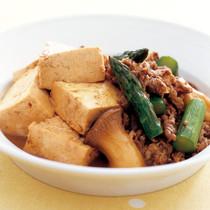 豆腐と牛肉のしょうゆ煮