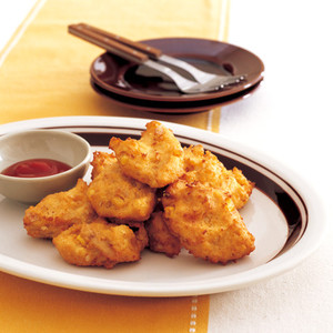 豆腐とツナコーンのフリッター