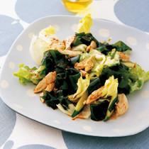 わかめととり肉の韓国風サラダ