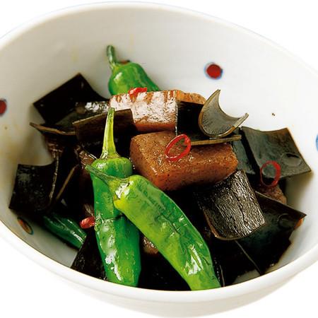 昆布とこんにゃくの炒め煮