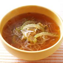 しらたきの酸辣湯風スープ